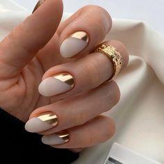 Chic Nails, Glam Nails, Stylish Nails, Neutral Nail Designs, Fancy Nails Designs, Nail Art Designs, Beige Nails, Neutral Nails, Nude Nails
