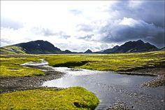 Álftavatn op de Laugavegur wandelroute, IJsland.
