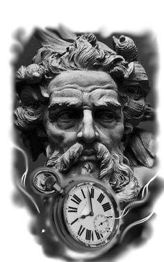 Tatuagem masculina tatuagem de Poseidon