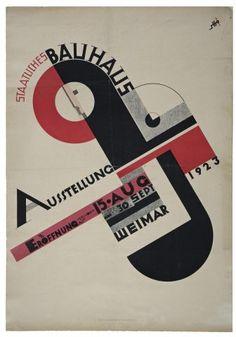 Joost Schmidt Bauhaus exhibition poster 1923