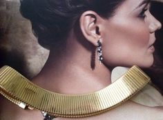 Status Gold Tone Choker Necklace  LJO Collection Jewelry