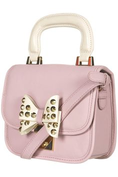 TopShop - Lady Bow Bag Spike Stud in Dusty Lilac