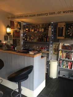 Ideas Garden Shed Bar Garage For 2019 - Garden Ideas Man Cave Garage, Man Cave Shed, Garage Bar, Man Cave Home Bar, Man Shed Bar, Garden Shed Interiors, Cabin Interiors, Diy Home Bar, Bars For Home