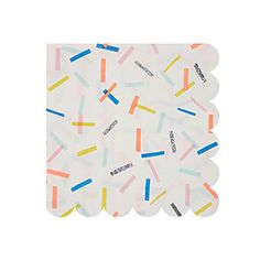 Sprinkles Small Napkins for Fun Birthday Party Easter Kids Party Food Occasion Themed Event Catering Occasions Party Supplies Party Napkins, Napkins Set, Sprinkle Party, Rainbow Sprinkles, Ice Cream Party, Party Shop, Birthday Fun, Bubble Birthday, Confetti