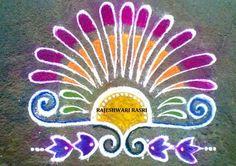 Simple Rangoli Rangoli Designs Flower, Rangoli Patterns, Colorful Rangoli Designs, Rangoli Ideas, Rangoli Designs Diwali, Diwali Rangoli, Flower Rangoli, Beautiful Rangoli Designs, Flower Mandala