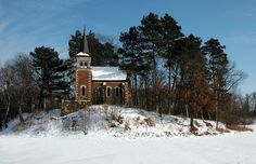 Stella Maris Chapel in winter. It was sure worth the 1.5 mile walk to this serene spot.