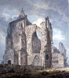Crowland Abbey, Lincolnshire by Thomas Girtin - Museum quality art prints with a selection of frame and size options, canvases, and postcards. Sacred Architecture, Architecture Drawings, Historical Architecture, Building Painting, Watercolor Artists, Watercolour, Medieval, Fantasy Art, Original Art