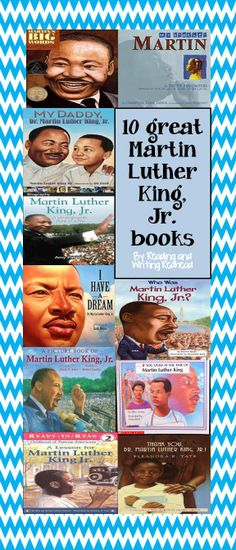 Martin Luther King Jr. - children's book suggestion and free resources at Reading and Writing Redhead