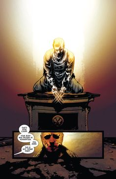 """That's you Logan. You died."" (Old Man Logan - Andrea Sorrentino & Marcelo Maiolo Wolverine Old Man Logan, The New Wolverine, Death Of Wolverine, Wolverine Comics, Marvel Comic Universe, Comics Universe, American Comics, Wolverines, The Avengers"
