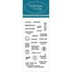 Technique Tuesday Foodie Clear Stamp Set Bring a positive attitude to your paper crafts! These stamps are made of the highest quality