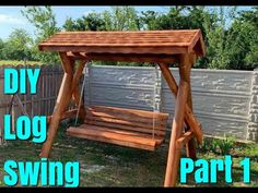 DIY Log Swing  How to Assemble Part 1 Diy School Supplies, Desk Organization, Diy Gifts, Beautiful Homes, Gazebo, Recycling, Craft Ideas, Outdoor Structures, Make It Yourself