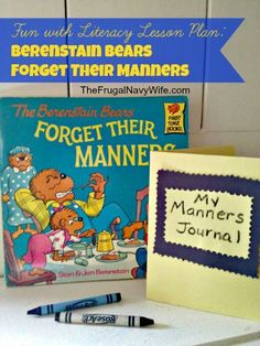 Berenstain Bears Forget Their Manners lesson Plan #homeschool #berenstainbears #lessonplan