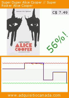 Super Duper Alice Cooper // Super Rocker Alice Cooper (DVD). Drop 56%! Current price C$ 7.49, the previous price was C$ 16.97. https://www.adquisitiocanada.com/seville-paradox/super-duper-alice-cooper-0