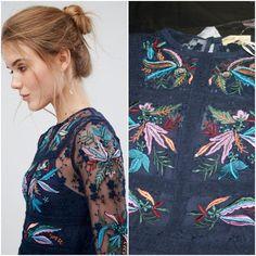 Frock and Frill Atley Floral Embroidered Skater Mini Dress Navy Embellished 6 8 for sale online Embroidered Dresses, Frock And Frill, Mini Skater Dress, Frocks, Lace Trim, Lace Dress, Navy, Best Deals, Floral