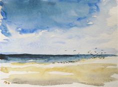 Watercolor-Amrum-Seaview-Beach-Kleckser