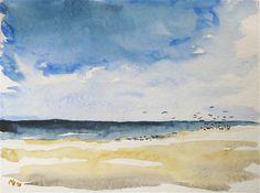 Watercolor-Amrum-Seaview-Beach-Kleckser