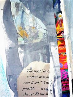 INSIDE pages of art journal...