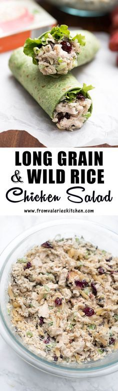 Long Grain and Wild Rice Chicken Salad made with Uncle Ben's is creamy, crunchy, and delicious. Try it rolled up into a wrap or all in its own! ~ #ad #riceonthego