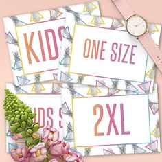 LuLaRoe Pineapple Size Cards Instant Download Home Office Approved
