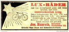 Original-Werbung/Anzeige 1906 - LUX - FAHRRÄDER / KUNRATH QUIRSCHIED (HEUTE: QUIERSCHIED) SAARBRÜCKEN - ca. 80 x 30 mm
