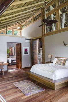 A 4 bath luxury residence in the tropical paradise of Punta Sayulita. Learn more about this vacation rental and other Sayulita villas for rent. Tropical House Design, Tropical Houses, Jungle House, Jungle Jungle, Treehouse Hotel, Interior Architecture, Interior Design, Bamboo House, My Dream Home