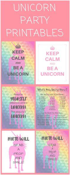 Unicorn Birthday Party Printables - Cute, Simple & Free!