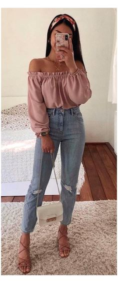 Trendy Summer Outfits, Cute Casual Outfits, Stylish Outfits, Fall Outfits, Classy Outfits For Teens, Moda Outfits, Summer Ootd, Outfit Summer, Simple Outfits