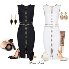 bandage dresses by ria-kos on Polyvore featuring polyvore, fashion, style, Christian Louboutin, Ippolita, Jaeger, Oscar de la Renta, Isabel Marant, Nude by Nature and clothing