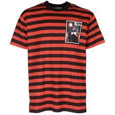 Givenchy Men's Orange/Black Cotton T-Shirt ($1,386) ❤ liked on Polyvore featuring men's fashion, men's clothing, men's shirts, men's t-shirts, tops, orange, givenchy mens shirt, mens orange shirt, mens cotton shirts and givenchy mens t shirt