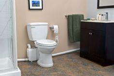 saniflo saniplus toilet system pinterest upflush toilet toilet rh pinterest com special toilets for basements best toilets for basements
