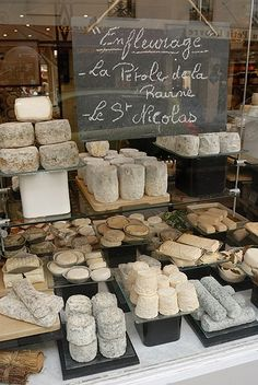 -beautiful french cheese shop window display & chalkboard, pari-                                                                                                                                                     More