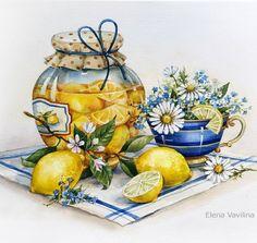 Decoupage Art, Decoupage Vintage, Scenery Paintings, Paintings For Sale, Watercolor Fruit, Watercolor Paintings, Realistic Drawings, Cool Drawings, Decoupage Printables