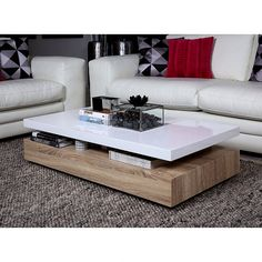 Coffee table design, white lacquered wood top MAXIMA – Purchase / Sale coffee table Design coffee table, top – Cdiscount Source by lexivy Table Furniture, Luxury Furniture, Home Furniture, Furniture Design, Furniture Online, Centre Table Design, Tea Table Design, Coffee Design, Centre Table Living Room