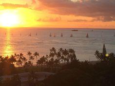 Trump International Hotel Waikiki Beach Walk sunset view