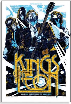 The Kings of Leon Concert Poster  at the Newcastle Entertainment Center- Newcastle, Australia  March 2009  printed on nice heavy paper stock  poster measures 18.25 inches x 26.75 inches   limited edition  artist:  Rhys Cooper