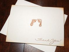 Baby Shower Thank You Note Card Set Handmade by DesigningMoments, $8.00