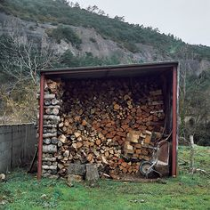 Wood shed,a must have on a farm and to go and find wood on cool, crisp days, there's nothing like the experience or the work out.