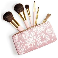AERIN Brush Essentials II ($148) ❤ liked on Polyvore featuring beauty products, makeup, makeup tools, makeup brushes, beauty, fillers, accessories, effect, apparel & accessories and no color
