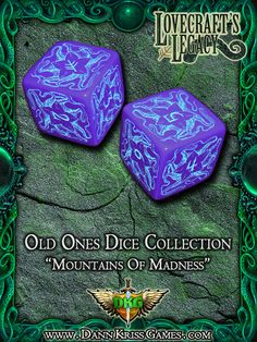 """""""Mountains Of Madness"""" Old Ones Dice Design"""