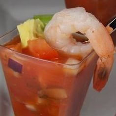 "Cool Mexican Shrimp Cocktail | ""This is spot on to what we have in Algodones Mexico. Absolutely perfect. Thanks for sharing. I've tried many times to duplicate it but ... this one takes the cake."""