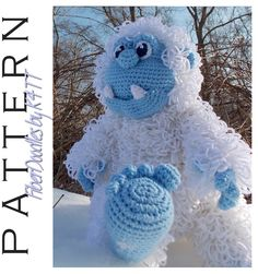 ~ Crocheted as directed with H hook, models which have been produced are approximately 22 inches tall. However, depending on your crochet style, this measurement may/will vary. ~