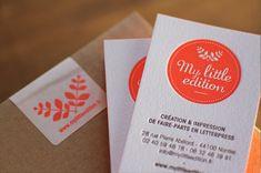 » carte de visite letterpress House of Press