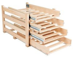 Wine Racks - Wine Logic WLMAPLE24 InCabinet Sliding Tray Wine Rack 24Bottle Solid Maple Wood >>> You can find more details by visiting the image link.