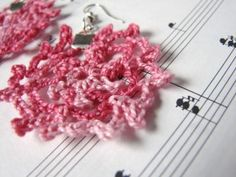 Pink lace earrings from My Hobby Shop on #Etsy