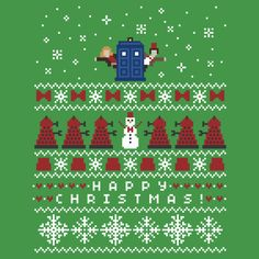 Timey Wimey Christmas Sweater + Card by rydiachacha
