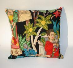Frida Kahlo Art Mexican throw Pillow by VintageGaleria, 16.00 dollars