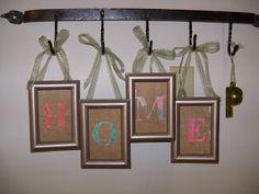 """HOME: framed letter """"art"""""""
