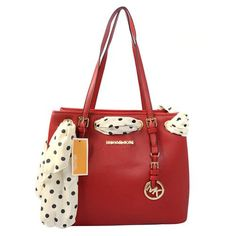 Cheap Michael Kors Jet Set Scarf Travel Large Red Totes Clearance I love the Red bag with the white pock a dot scarf Cheap Michael Kors, Michael Kors Outlet, Handbags Michael Kors, Michael Kors Jet Set, Luxury Bags, Luxury Handbags, Mk Bags, Handbags On Sale, Mk Handbags