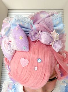 Fairy kei, lolita puffy hair bows