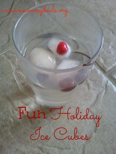 Fun Holiday Ice Cube